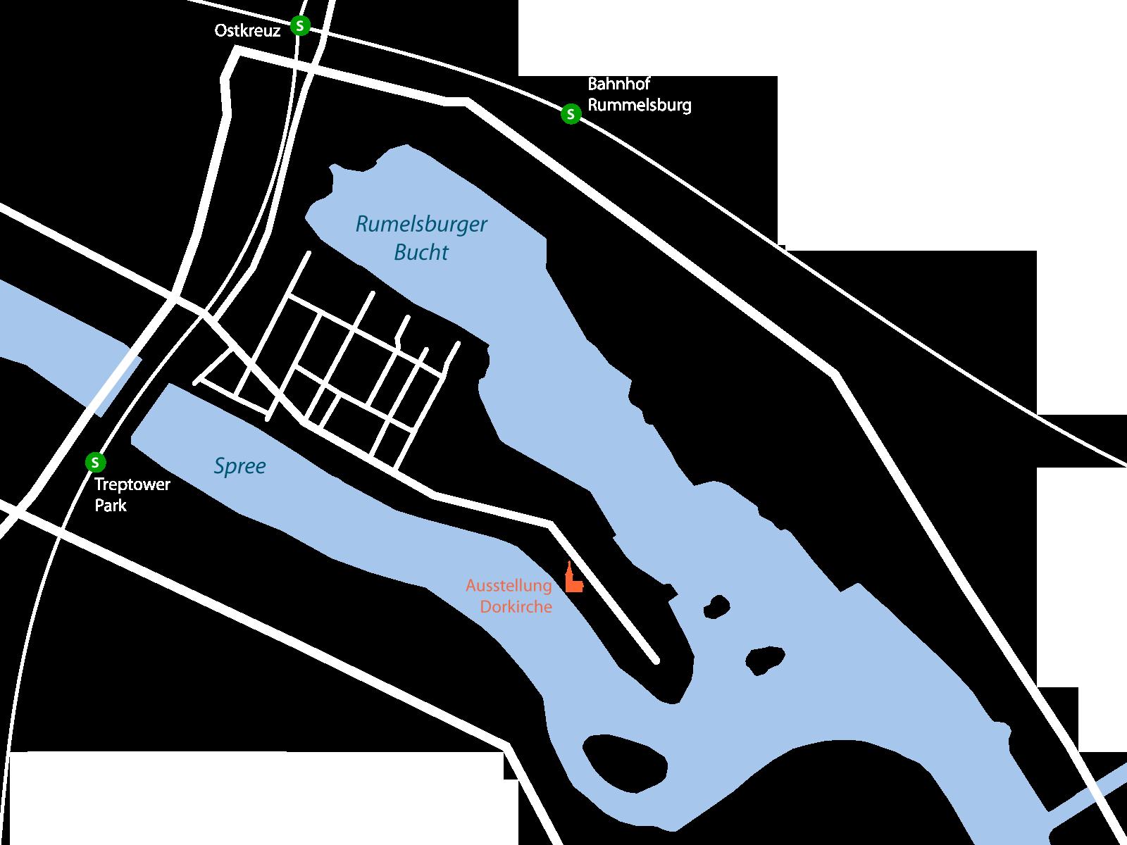 Übersichtskarte Halbinsel Stralau